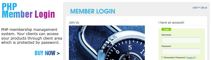 PHP Member Login